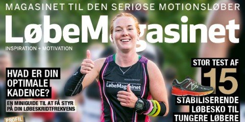 Forside af LøbeMagasinet. Sofie Kyeds deltagelse i Ironman Copenhagen 2014.