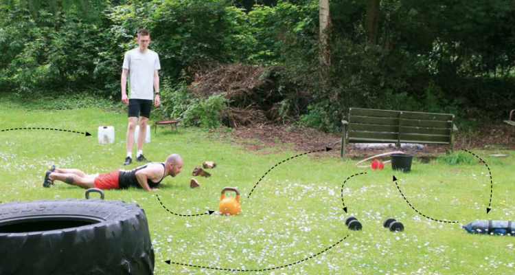 Jacob Juul Hastrup guider til styrketræning i din baghave