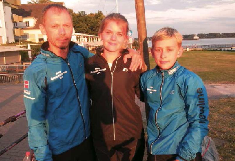 Efter at have tilbagelagt 538 kilometer fra Viborg ankom den lille familie endelig til målet i Wedel i Tyskland.